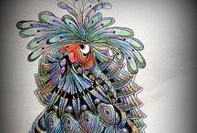 Birds zentangle Doodle