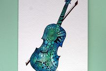 Cards music zendoodle