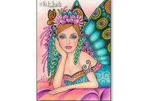Fairy, Fantasy zentangle Doodle
