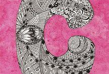 Zentangle pattern C.
