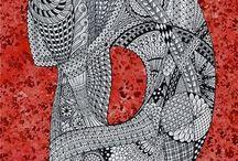 Zentangle pattern D.