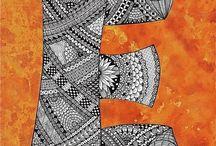 5. Zentangle pattern E.