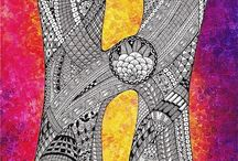 8. Zentangle pattern H.
