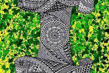 9. Zentangle pattern I