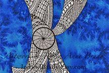Zentangle pattern K
