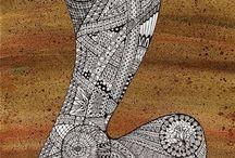 Zentangle pattern L
