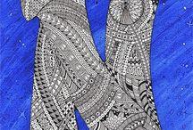 14 Zntangle pattern N