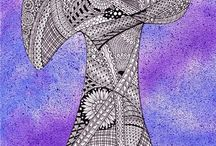 20 Zentangle pattern T