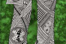 21 Zentangle pattern U