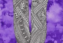 22 Zentangle pattern V