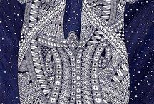 23 Zentangle pattern W
