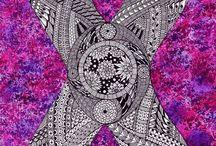 24 Zentangle pattern X