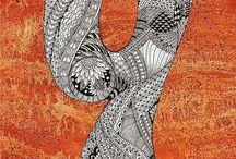 25 Zentangle pattern Y