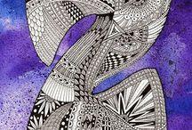 Zentangle pattern Z