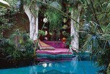 [patios gardens pools]