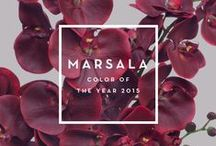 2015 Pantone Color of the Year / The 2015 Color of the Year is Pantone Marsala 18-1438.  A naturally robust and earthy wine red, Marsala enriches our minds, bodies and souls.   This hearty, yet stylish tone is universally appealing and translates easily to fashion, beauty, industrial design, home furnishings and interiors.
