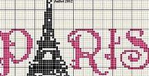 Cross stitch Paris / Vyšívání pařížské tématiky