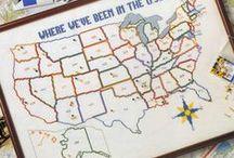 Cross stitch states/ vyšívání - státy USA / Křížková výšivka