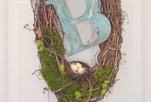 """Wreaths / Seasonal, DIY, Diff.""""textures,""""& so on. / by Rhonda Foote-Knox"""