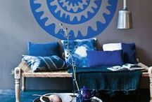 indigo / Love the color of indigo! Deep blue gives warmth and depth in an interior. And for me it is a beautiful and dressy color.