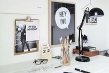 workspace / How can you create a workspace at home that inspires you, are beautiful at the same time and fit in your place? From small to big solutions, at this board you will find different examples. The most are in black/white theme, because I love that and gives me a fresh and clean organized feeling!