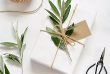 Wrap / pretty paper + accessories for perfect wrapping