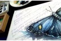 Watercolor painting / Akvarelové malování, má originální tvorba Watercolor paintig, art, pictures, aquarel