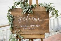 Wedding Signs / Welcome signs are the perfect way to introduce your guests to the wedding!