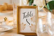 Wedding Table Numbers & Placecards / Take a look at some creative table numbers and place card ideas!