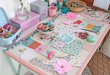 Craft Rooms / Craft Rooms & home offices to delight! Full of Craft rooms ideas & craft storage ideas to organize your craft supplies. A cute way to decorate a craft space. THIS BOARD IS CLOSED & NO LONGER ACCEPTING CONTRIBUTORS