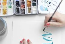 Handwriting and Hand Lettering / This Pinterest board is all about Hand Lettering, not typography or fonts, Lettering. One of my favourite subjects! In this board you will be inspired or even motivated to buy some fabulous lettering supplies.