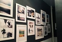 Wall ideas / Frame layouts, wall colors, wall shelves, wall decals etc / by Carly Kolk