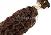 Hair Extensions /  Weaving / The Best Human Hair Quality CUTICLE® Extensions, Hairpieces & Brand Name Wigs Available at http://hisandher.com