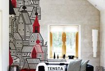 Inspired by Wallcoverings / There are some totally awesome wallpapers to create the look
