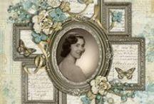Heritage / vintage~ Scrapbook layouts