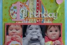 Birthday ~ Scrapbook layout