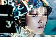 AVANT !! avantgarde ! FASHION COUTURE / Going forward, directly to the future of a sci-fi world leads by a new hyper/tech  humanity