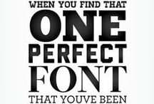 Typography. Fonts