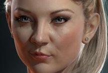 3d art || Face (female)