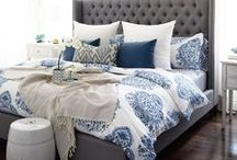 Grey & Blue Home Decor / Grey and blue are two colors that really compliment each other in the home.