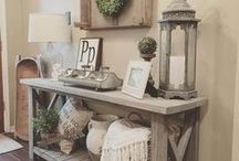 Entryway Ideas / The entrance of your home will create your guest's first impression of you and your living space. Make your entry way make a statement that will wow anyone who enters.