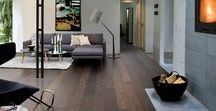 Dark Wood Floors / Dark wooden floors look rich and luxurious - there are lots of options including textured surfaces, matt finishes and highlighted grain patterns