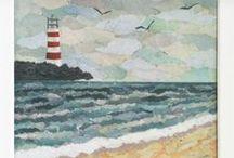 SEA / collage art / 100% COLLAGE ART by PHILIPPE PATRICIO