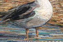 BIRDS / collage art / 100% COLLAGE ART by PHILIPPE PATRICIO