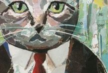 CATS / collage art / Collage Art by Philippe Patricio