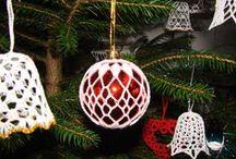 Háčkování vánoční - crochet christmas / háčkované ozdoby pro vánoční období - na stromek, do oken apod.