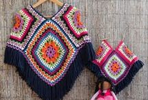 Crochet shawl and ponchos