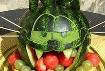 vyřezávané ovoce (carving fruits)
