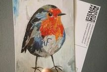 ROBIN BIRDS / collage art / 100% Collage Art by ©PHILIPPE PATRICIO all rights reserved