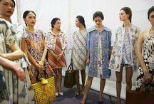 Batik & brocade dress